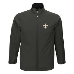 NFL New Orleans Saints Boys 8-20 Transitional Shell Jacket- Cool Grey / XL