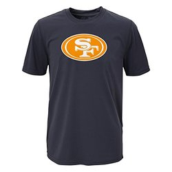 NFL Boys San Francisco 49ers Performance Tee - Charcoal - Size: Large