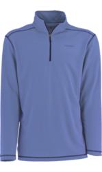 White Sierra Men's Techno 1/4 Zip Performance Shirt - Blue - Size: Large