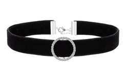 Velvet Choker Necklace with Swarovski Elements - Black Velvet