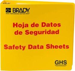 """Brady 3"""" Spanish Safety Data Sheet Binder"""
