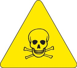 "Brady 8x8"" Pictogram ""Toxic Material"" Vinyl Warning Labels -10-Pack"