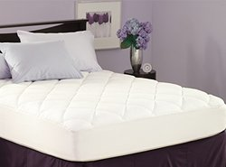SPRING AIR ILLUNA PLUSH COMFORT MATTRESS PAD FULL White