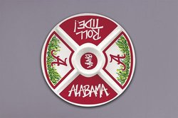 Collegiate Melamine Veggie Tray (Alabama Crimson Tide)