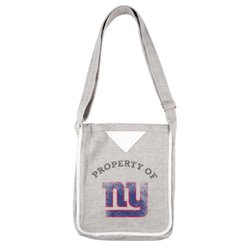 NFL Hoodie Hoodie Crossbody: Grey/New York Giants