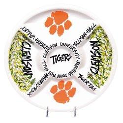 NCAA Clemson Tigers Ceramic Veggie Tray