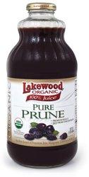 Lakewood Organic Pure Prune Juice - 32oz - 6-Pack
