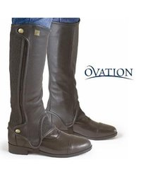 "Ovation Precision Fit Black Half Chaps - Calf:17"" Calf Height:19"" Height"