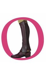 Ovation Kids Pro Top Grain Leather Boots Half Chaps - Brown - Size: B12-14