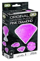 Bepuzzled Original 3D Crystal Puzzle - Pink Diamond