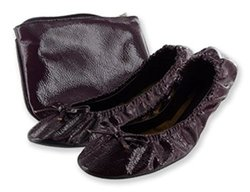 Sidekicks Women's Foldable Flats - Purple - Size: Large