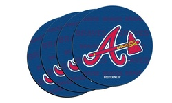 MLB Atlanta Braves Neoprene Car Coasters - Pack of 4