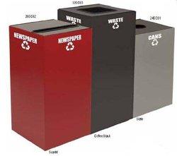 Scarlet Square Recycling Bin