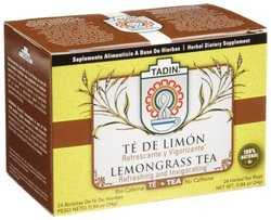 Tadin Tea Te De Limon (Lemongrass) Tea Count Tea Bags (Pack of 12, 24