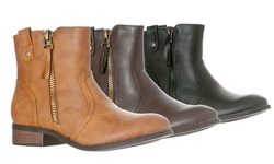Riverberry Women's Hailey Zip-up Ankle Bootie: Tan/size 8.5