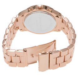 Journee Collection Women's Roman Numeral Link Watch - Rose Gold