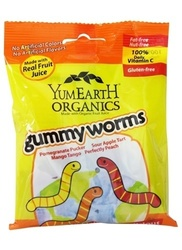 Yum Earth Organic Gluten Free Sweet Gummy Worms 2.5oz