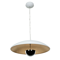 Access Lighting Pulsar White and Gold 24-Inch Wide LED Dome Pendant
