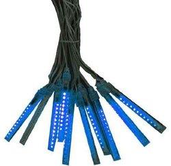 Hi-Line Gift 37465-BL 12-Volt 12cm  Meteor Tube  Light 12 LED by 10 Tubes  AC  Indoor/Outdoor, Blue
