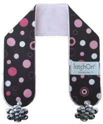 Latch on Nursing Blanket Strap - Minky Dot Pink