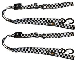 EK Ekcessories Dual Safety Clip & Built in Soft Tie 2PK - Black/White