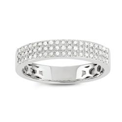 Journee Sterling Silver 3/5 CT TDW Diamond Round Cut Micropave Band size 7