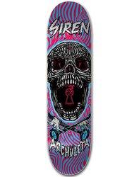 Siren Archuleta Key Skull Skateboard Deck - Purple - Size: 7.75