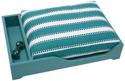 Doggiedasherie Pet Bed with Pillow - Turquoise
