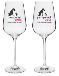 Pampered Pets Limited Edition Crystal Wine Glasses