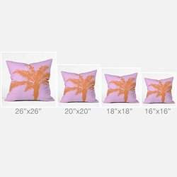DENY Designs Deb Haugen Orange Palm Outdoor Throw Pillow, 18 x 18