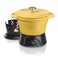 Hamilt on Beach Iron Party Crock Slow Cooker - Yellow
