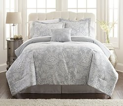 Printed Reversible Complete Bed Set: Olivia/Queen (8-Piece)