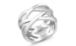 Women's Silver Plated Twirl Comfort-fit Ring - Size: 7