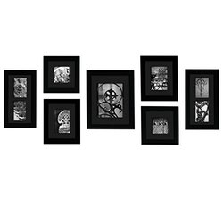 Gallery Perfect 7 Piece Hang Your Own Gallery Frame Set - Black