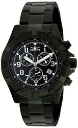 Invicta Men's Chronograph Watches: Invicta-13623 Black Band/black Dial