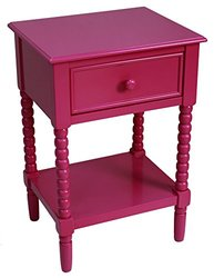 Accent Turned Leg Kids Accent Table - Pink