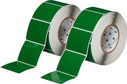 """Brady 3""""x2.5"""" H Adhesive-Taped Polyester Printer Label - 500/Roll - Green"""