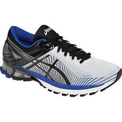 ASICS Men's GEL-Kinsei 6 Running Shoe, Silver/Black/Blue, 14 M US