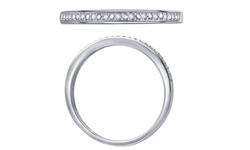 Kiran Jewels Round Diamond Accent Band in 10K - White Gold - Size: 5