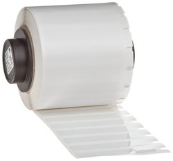 "Brady Static Dissipative Gloss Finish White Labels - 750/Roll - 1.5""x.25"""