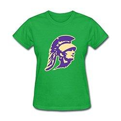 Beneebon Women's High School Graphic Printed T Shirt - Green - Size: M