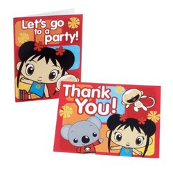 Ni Hao Kai Lan Invitations and Thank You Combo - 16-count total