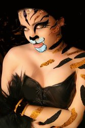 Xotic Costume Body Art Rhinestone Sticker Set- Tiger