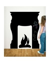 Fireplace Chalkboard Peel and Stick Wall Decal