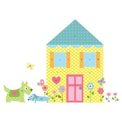 RoomMates Wall Decals Build-a-House Peel & Stick MegaPack