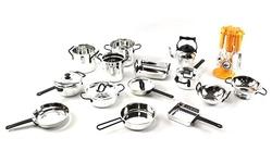 Velocity Toys 21-Piece Kitchen Utensils Kitchenware Playset