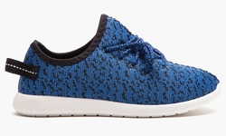 Form and Focus Women's Athletic Heathered Runner Shoes - Blue - Size: 9