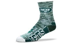 NFL Unisex Motion Stripe New York Jets Team Crew Socks - Green - Size: Large