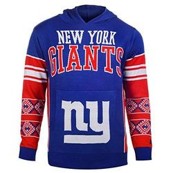 NFL Youth Boy's New York Giants Hooded Sweatshirt - Blue - Size: Medium