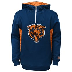 NFL Youth Boys Chicago Bears Performance Hoodie - Blue - Size: Small (8)